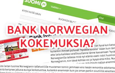 Bank norwegian kokemuksia