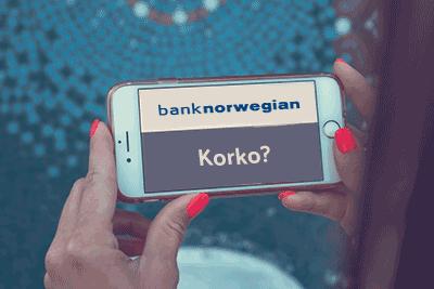 Bank norwegian korko