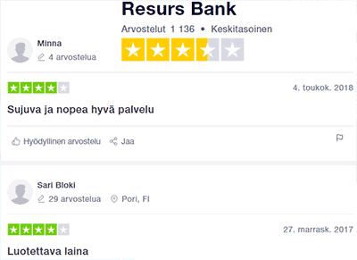 resurs bank kokemuksia